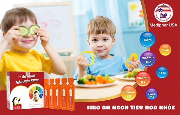 Thành phần trong siro tiêu hóa khỏe trẻ ăn ngon